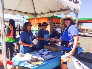 Volunteering at Mesa Light Rail extension celebration